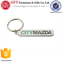 Personalized letter words hand stamped metal key ring monogram key chain custom logo