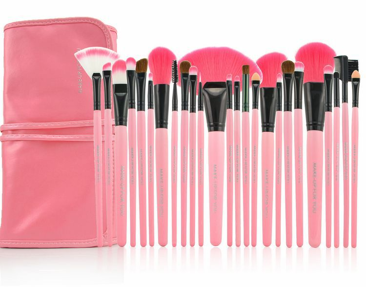 AIDEN- Hot selling Pink Pro 24pcs makeup brush set 24 pcs makeup brush