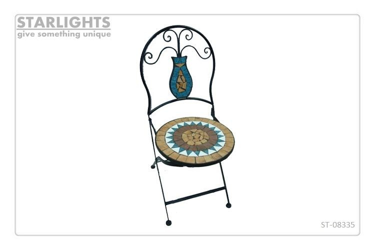 Best selling metal mosaic chair with special design