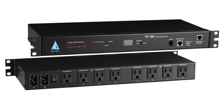 remote electrical switches pdu distribution box 8U