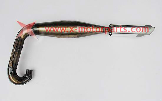 The muffler fit for 2 stroke 37cc water cooled pocket bike
