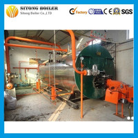 Low cost oil or gas fired steam output 3000kg commercial boiler prices