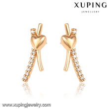 92474-Xuping Stud earring bridal X shape fashion jewelry