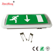 Rechargeable Recessed Ceiling Emergency LED Light With Exit Sign