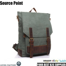 YD-1914 Brand leisure fashion ODM canvas school bags laptop backpack factory in Guangzhou