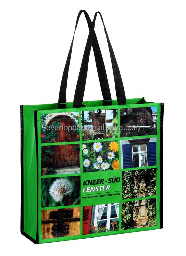 OEM eco-friendly deep green vietnam pp woven bags