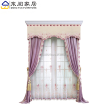 fancy design purple living room jacquard embroidered home curtain