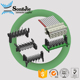 1.27 mm fast connector idc male to housing female wire connector 1.27mm pitch, 2 x 2 3 4 5 6 7 8 9 10 11 12 13 pin/ways/contact
