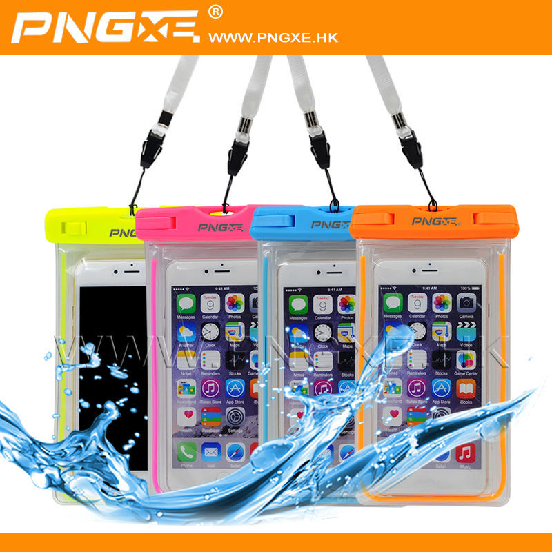 PNGXE New luminous Transparent PVC waterproof phone Bag case pouch cover universal for mobile phones