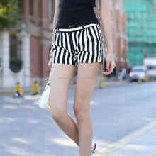 Zebra pattern summer hot shorts for women