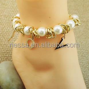Fashion anklet asian pearl jewelry wholesaler NSAK-90