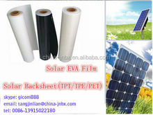 solar backsheet tpt/tpe/pet backsheet encapsulation eva solar film solar panel