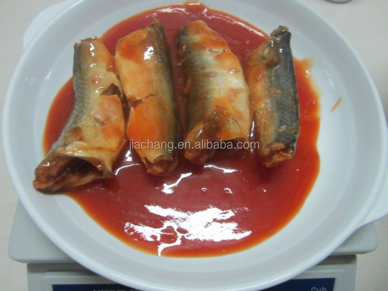 chinese wholesale canned mackerel in tomato sauce/in brine/in oil