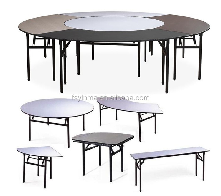 Folding plywood round banquet tables wholesale for for Table cuisine retractable
