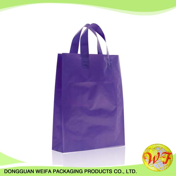 Ldpe/hdpe Making Cheap Price Packaging Christmas Gift Shopping Soft Loop Handle Plastic Bag