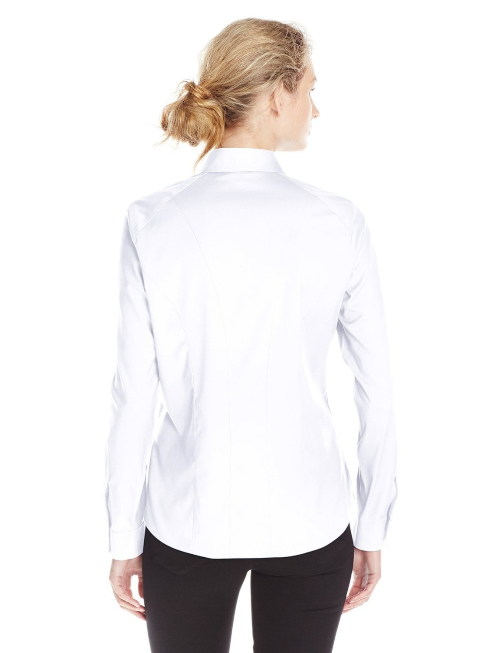 women's high quality office wear formal ink color long sleeve shirt manufacturer