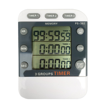 3 channel timer,Triple Line Large LCD Digital Timer