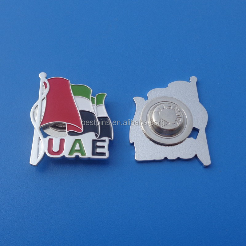 NEW 44th UAE National Day magnetic pin/magnetic brooch pin/magnetic back pins with customized logo