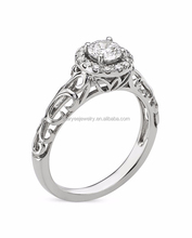 halo style 14 carat white gold diamond ring jewelry for wedding