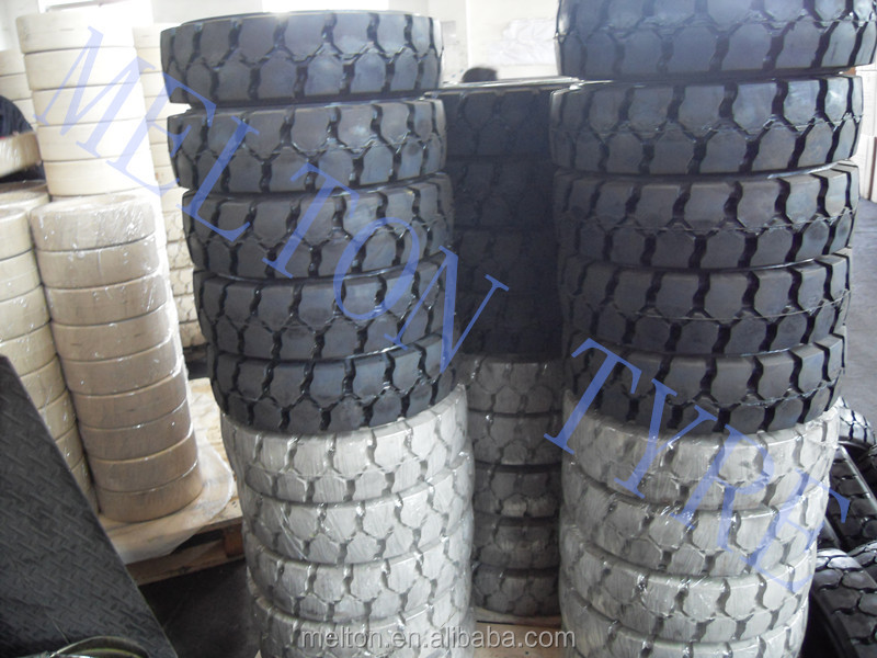 28x9-15 LIND solid tire click tyre with rim