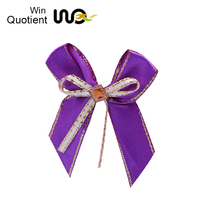 China Fashion Multi Color 100% Nylon Lycra Ribbon Bow