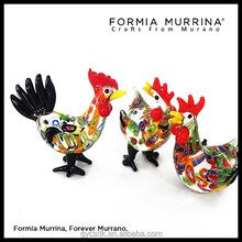 Creative Glass Rooster figurines wedding favours for guests/gift for wedding souvenir