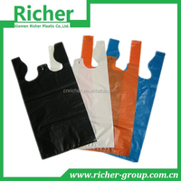 Various color t shirt bag environmental shopping bag