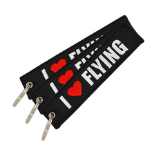 Double side embroidered baggage tag Fabric Embroidery Key Chain