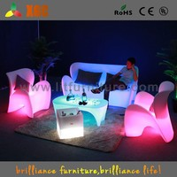 popular illuminous led modern outdoor furniture high back rattan sofa set