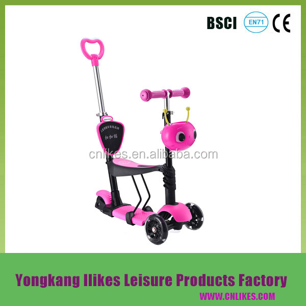 manufacture price passed OEM CE BSCI foot pedal kick cabin scooter cars for sale 3 wheel for adults with high quality