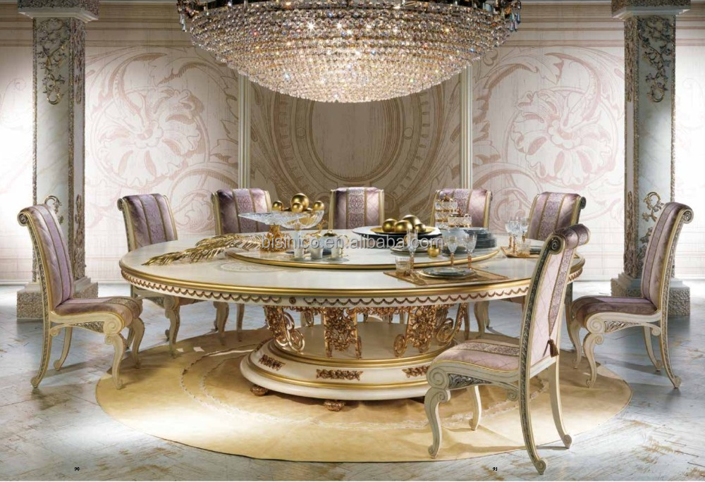 nouveau round dining table with lazy susan luxurious large round dining table for 10 people. Black Bedroom Furniture Sets. Home Design Ideas
