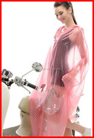 Transparent Fabric Motorcycle electric bicycle Raincoat