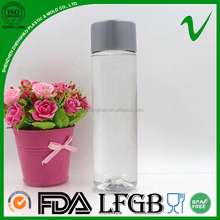 custom design voss food grade PET 500ml plastic water bottle for mineral water with lip