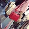 lady handbags latest model smooth leather beaded mosaic style bag