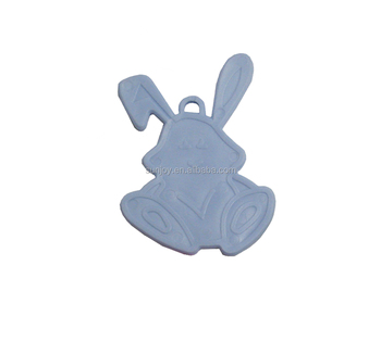 Bunny Rabbit Shaped Plastic Weights Blue