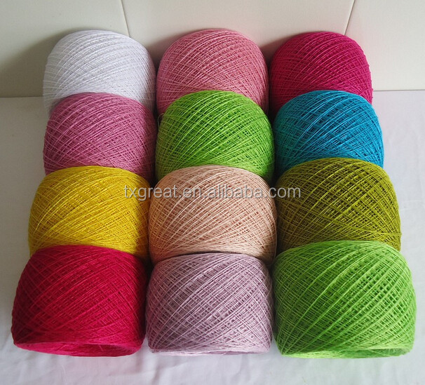 long fiber 100 mercerized cotton hand knitting yarn