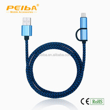 High quality Micro USB Cable 5 V 2 A Fast charging mobile braided 2m metal shell for iPhone