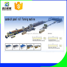 hebei cangzhou automatic roof&wall panels roll forming machine/automatic eps sandwich panel roll forming