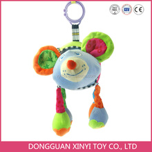 2016 Hot sale! Fashion safe plush beautiful pictures baby toy with musical pull string
