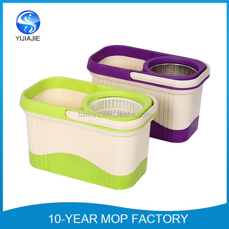 best selling double color 360 rotating magic mop with bucket