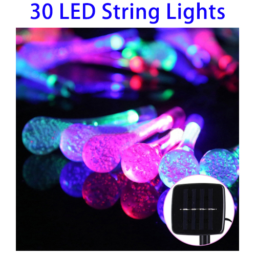 New Products 5m 240-360LM Solar Panel Life String Light Bulbs with 2m Extended Cable
