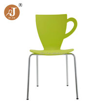 Modern Cafe Cup Shaped Dining Chair Plastic Chair