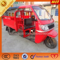high quality new three wheel motorcycle/250cc 300cc water cooling cargo tricycle with driver cabin and closed box