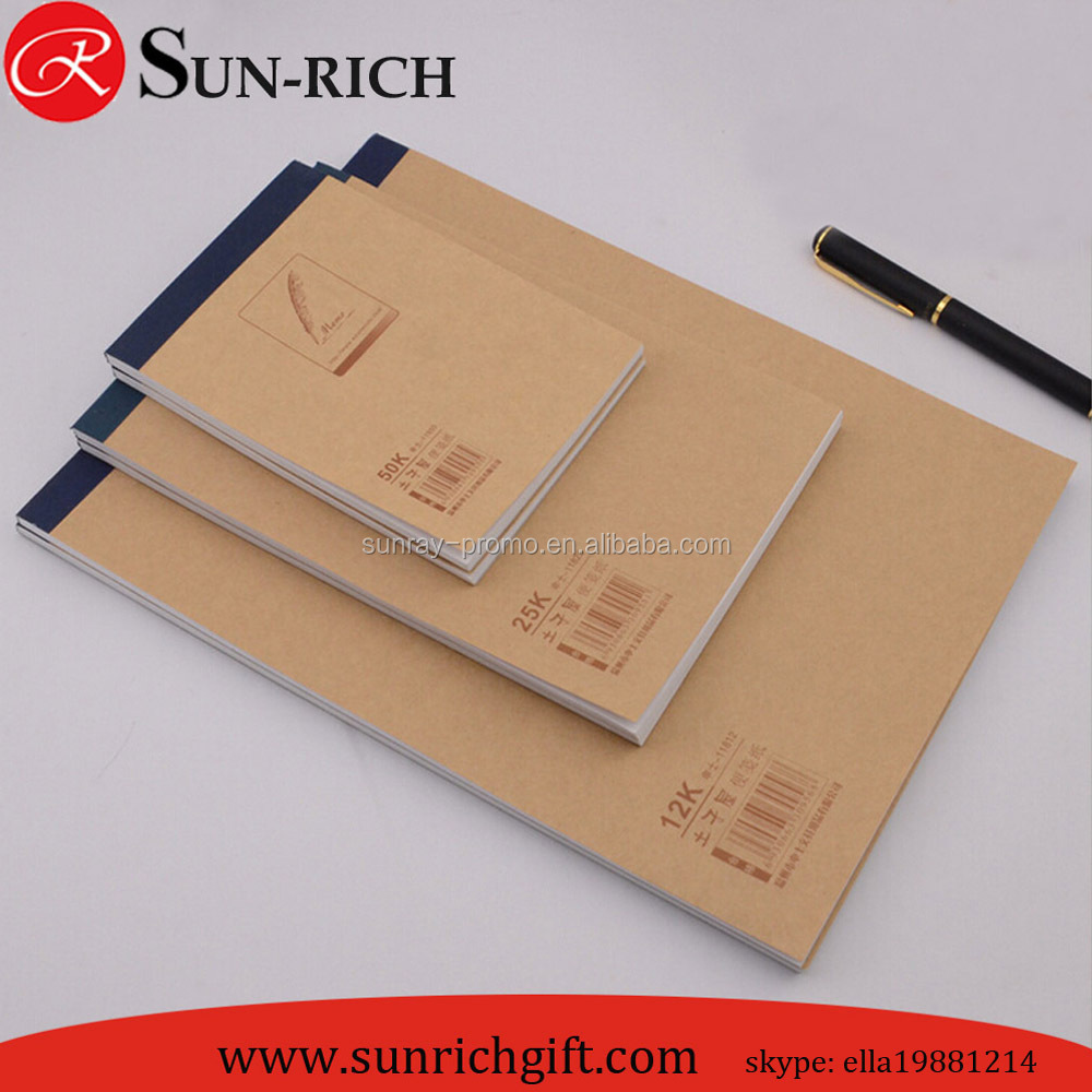 Cheap Price Custom Logo Bown Craft Paper Cover A4 A5 A6