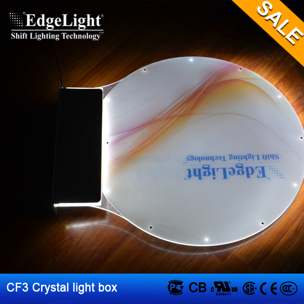 Edgelight CF3 waterproof crystal frame circular light box christmas ornaments