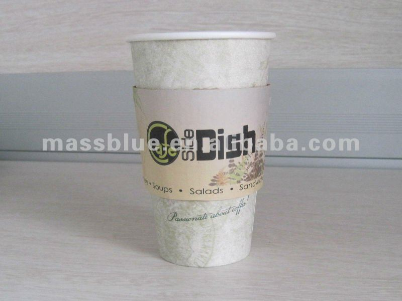 Disposable Recycled paper coffee hot cup sleeves