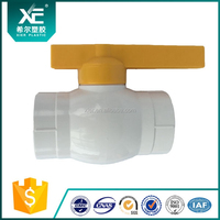 New PVC 2 Way Ball Valve Water Tap Connector Pipe Joint with 25mm dia