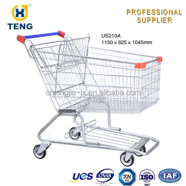 Quality Supermarket Metal Big Wheel Trolley