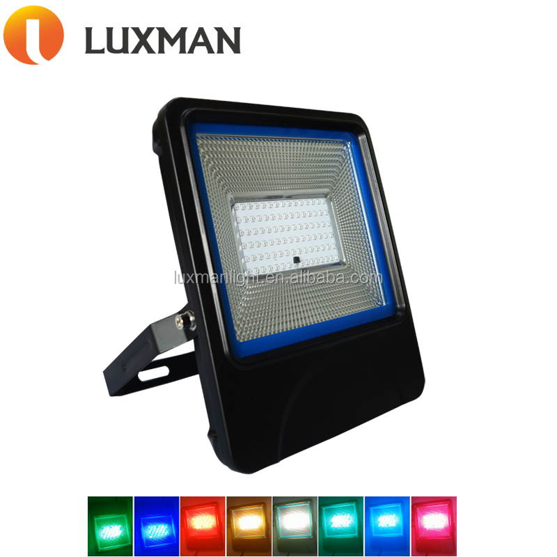Remote Control RGB 50W LED Flood Light for Building Lighting Reflector 50W RGB LED Floodlights For Bridge, Tree Light