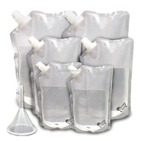 Good Price Clear Drink Stand Up Spout Pouch Plastic Water Pouch Food Safe Spout Pouch For Rum Runner